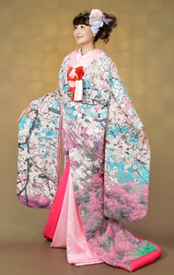 0-958 桜花爛漫 相良刺繡 色打掛