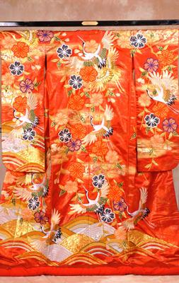 2000 枝垂桜に青海波 色打掛
